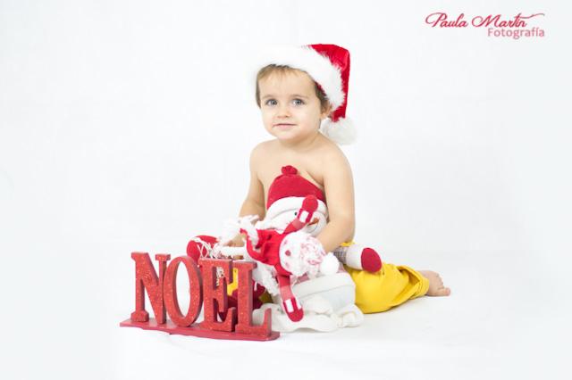 Foto navideña con niño