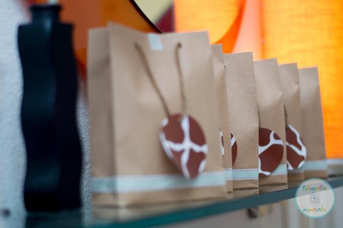detalles de las bolsas de regalo de la fiesta animales