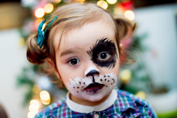 Pintura de cara infantil ideas de para nios india for Cara pintada diablo