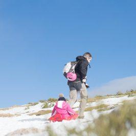 Ir a la nieve con niños: escapada al Puerto de Morcuera