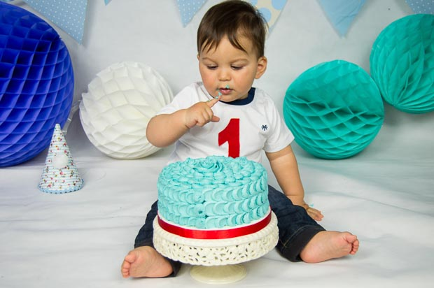 Sesion cake smash o de cumpleaños