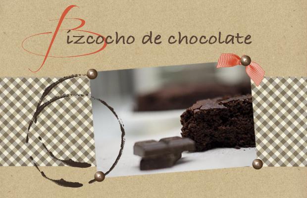 scrapbooking con bizcocho de chocolate