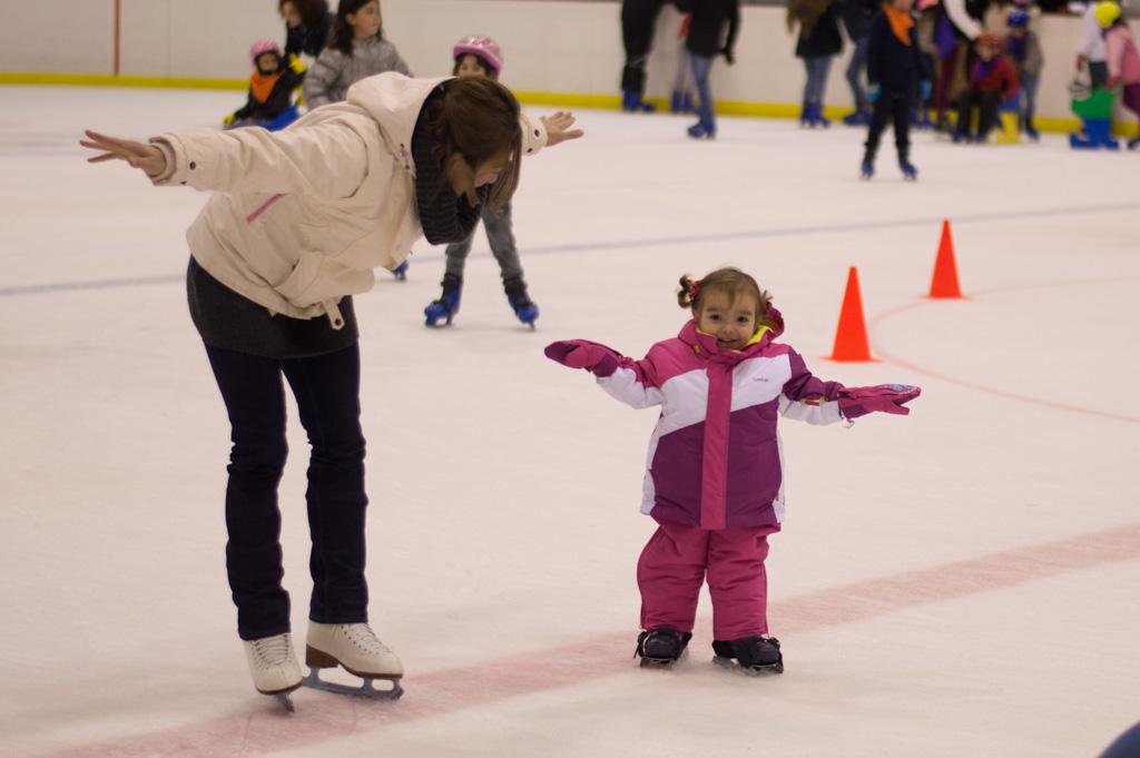 equilibrio para patinar sobre hielo