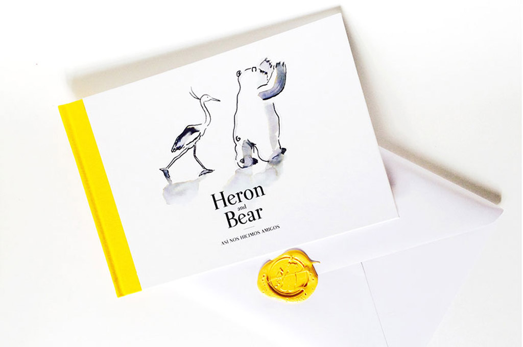 cuento Heron and Bear