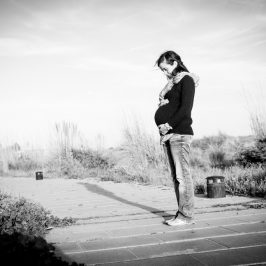 Una sesión de fotos premamá en la playa
