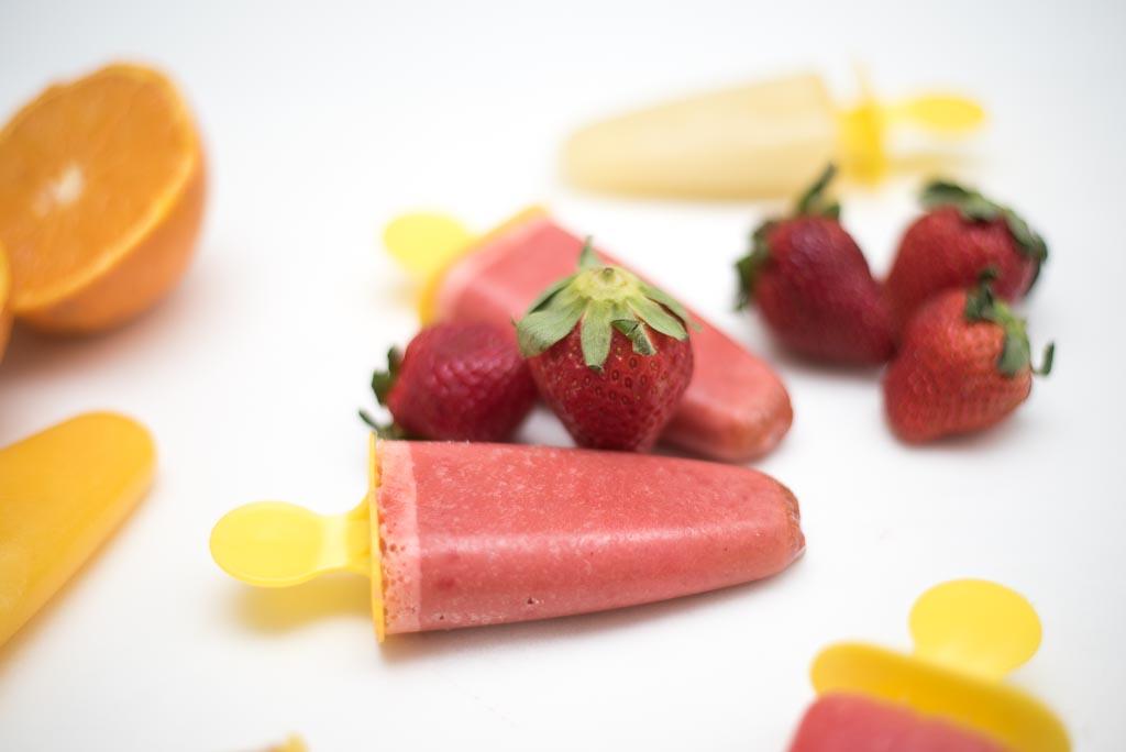 Helados caseros de fruta