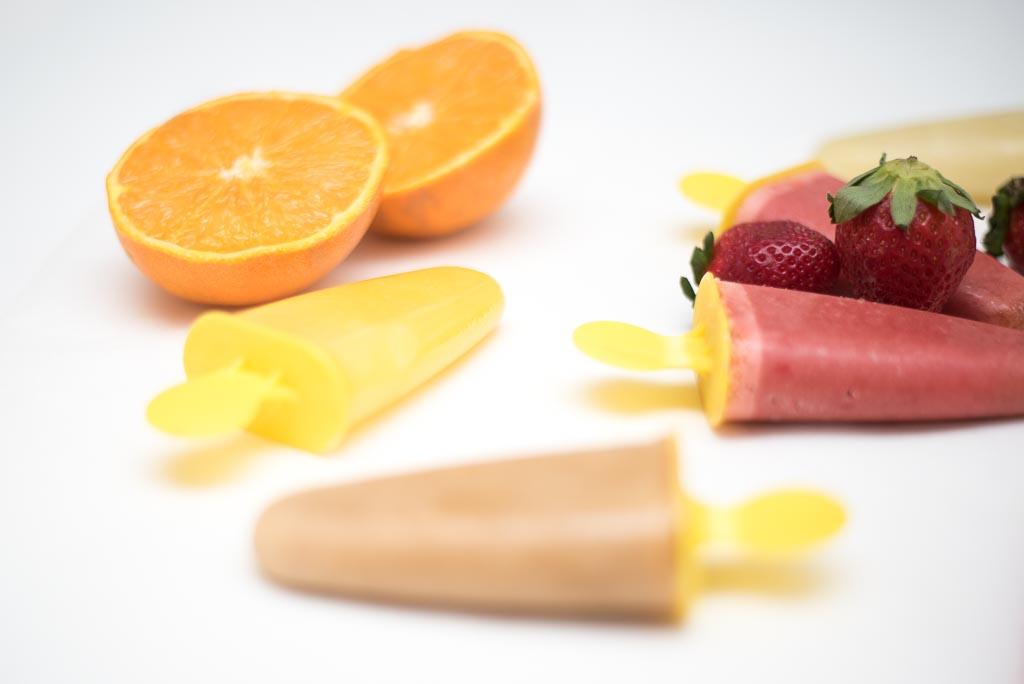 Polos de fruta casero