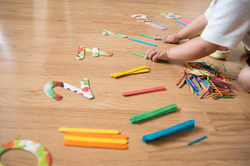 actividades con palos de colores