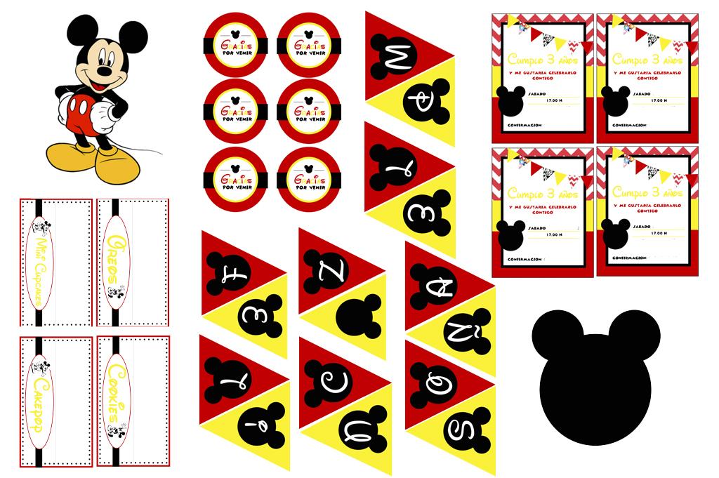 imprimibles de Mickey gratis