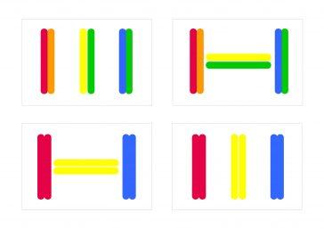 Juegos de lógica con palos de madera