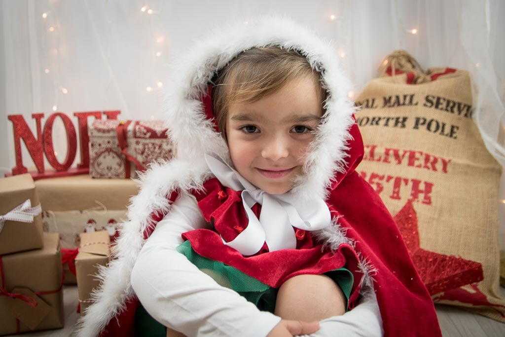 foto navideña con decoración