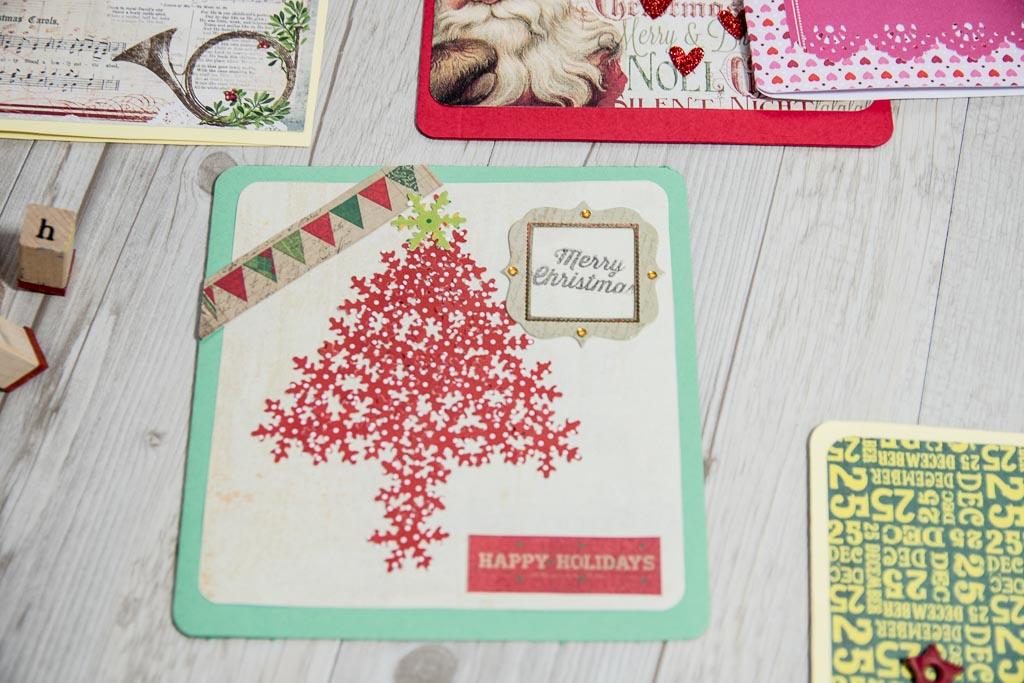 tarjeta navidad con arbol