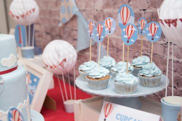 Un cumpleaños temático de globos aeroestáticos
