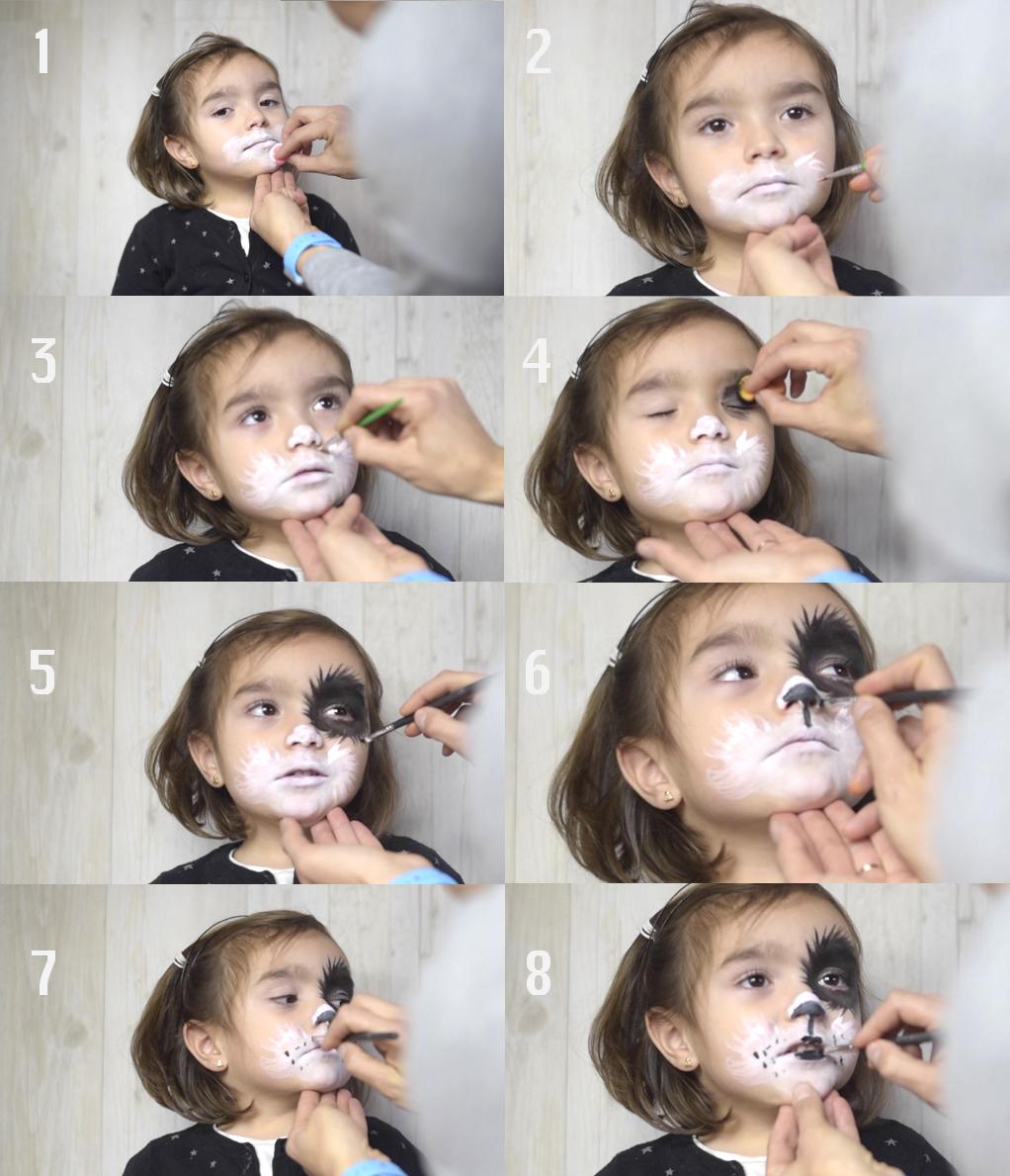 maquillaje de perro paso a paso