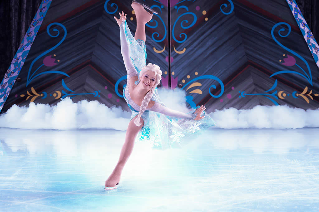 Anna en disney on ice frozen