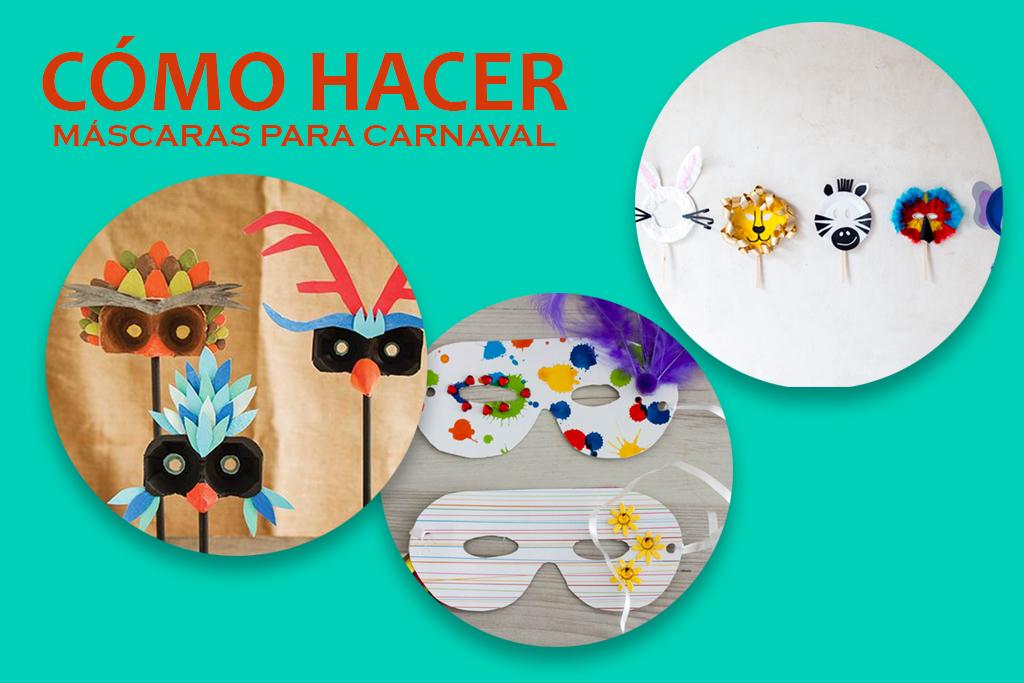 como hacer mascaras para carnaval