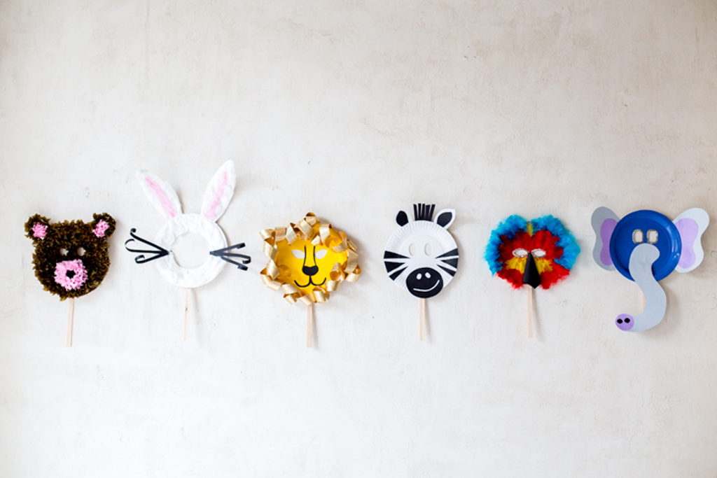 cómo hacer máscaras con platos