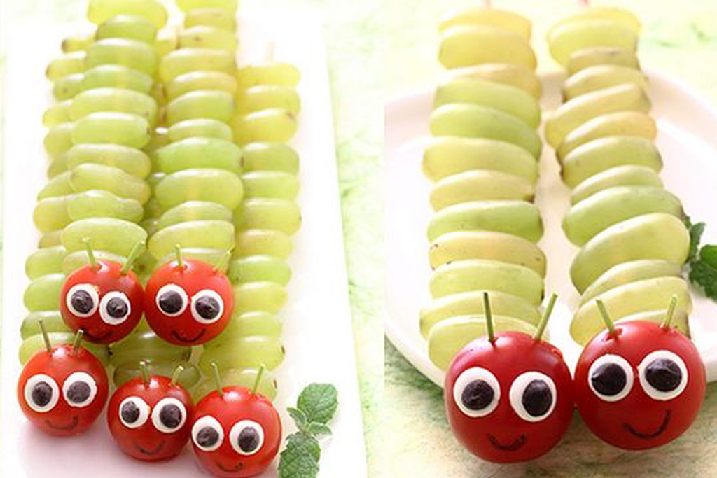 orugas de fruta