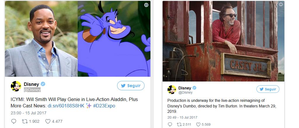 mensajes de twitter de Disney