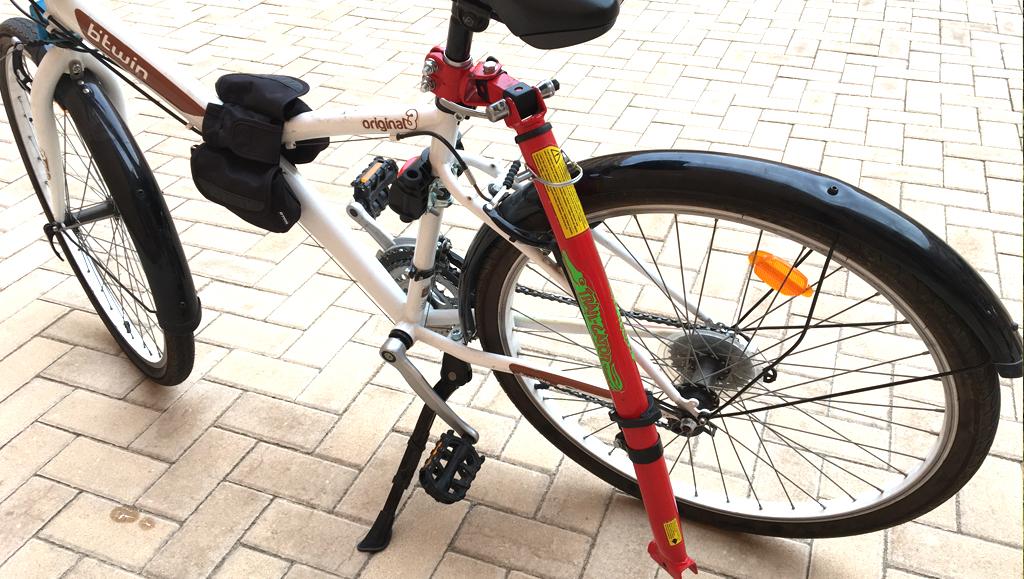 barra para remolcar una bici con otra