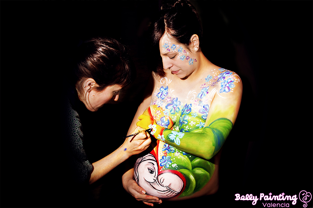 pintar barriga de embaraza