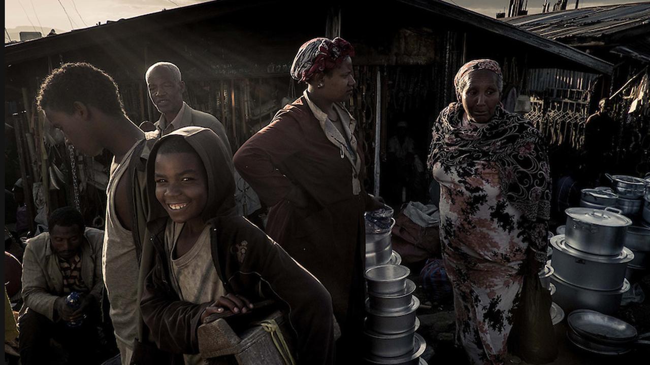 Puesto callejero en África
