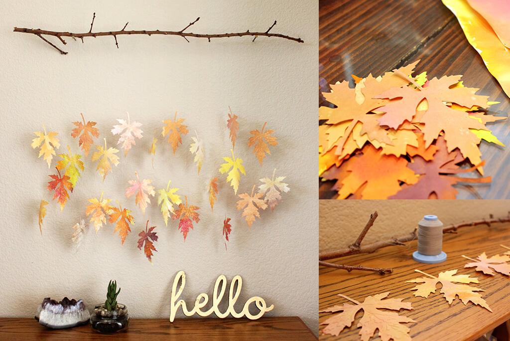 Decorar la casa con hojas