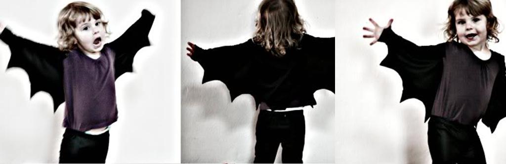 Disfraz de murciélago hecho en casa