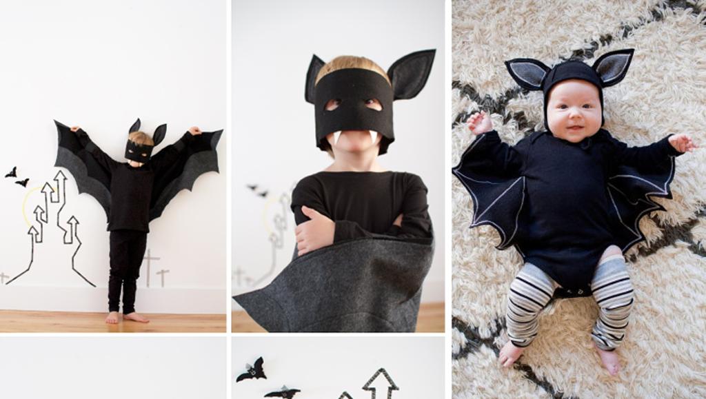 Disfraz de murciélago para disfrazar a un niño en halloween
