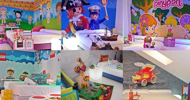 habitaciones del hotel de juguete