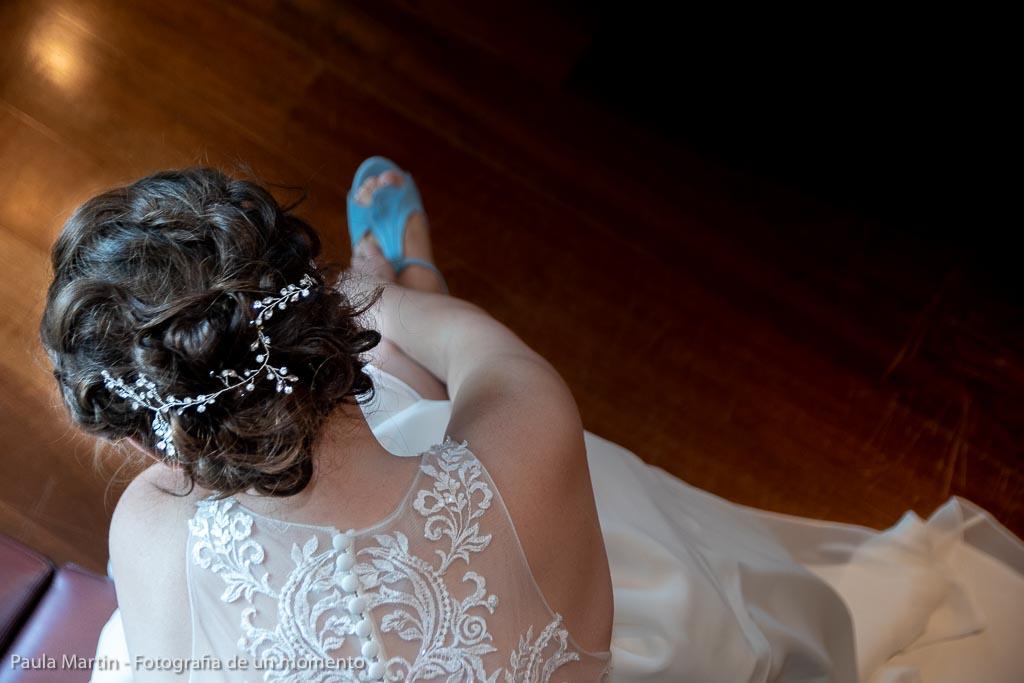 detalle del peinado de la novia