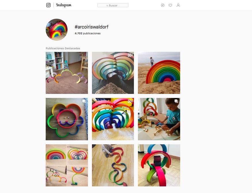 cuentas de instagram con el arcoíris waldorf