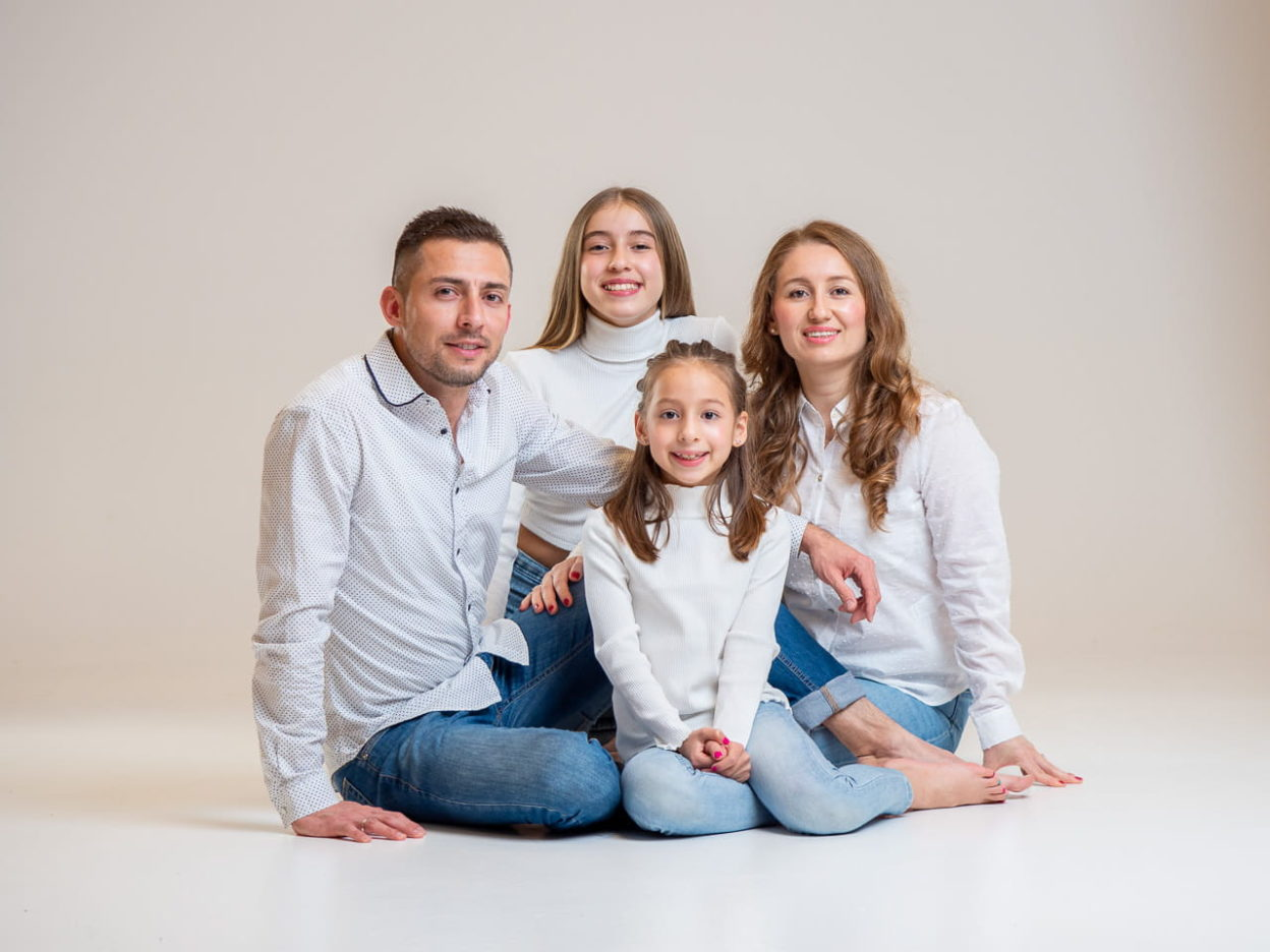 foto familia estudio