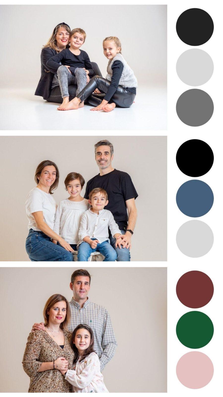 elegir ropa para sesión de fotos de familia