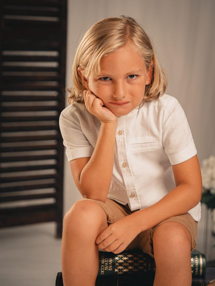 fotografia de comunion niño